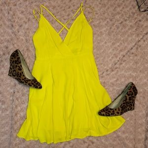 Forever 21 Bright Yellow Dress